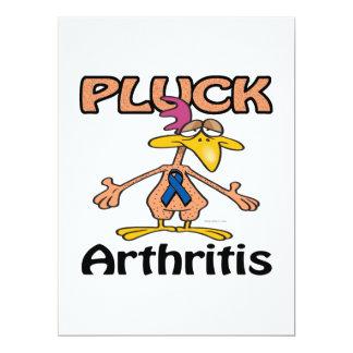 Desplume el diseño de la conciencia de la artritis invitación 16,5 x 22,2 cm