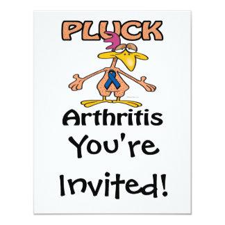 """Desplume el diseño de la conciencia de la artritis invitación 4.25"""" x 5.5"""""""