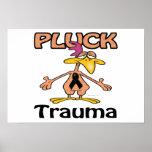 Desplume el diseño de la conciencia del trauma posters