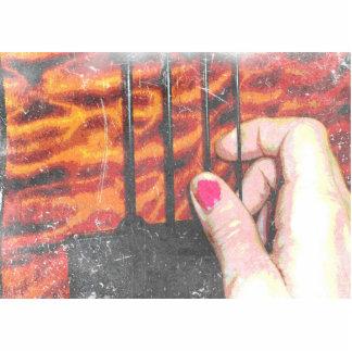 desplume manual de grunge del bajo a mano de secue esculturas fotograficas