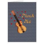 Desplúmeme guitarra de la tarjeta del día de San V