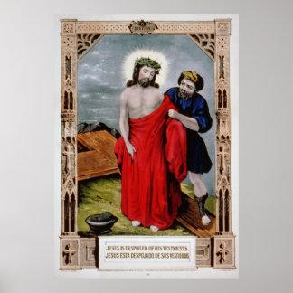 Despojan a Jesús de-su impresión del poster de las