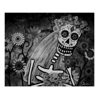 DESPOSADA BRIDE DAY OF THE DEAD POSTERS POSTER