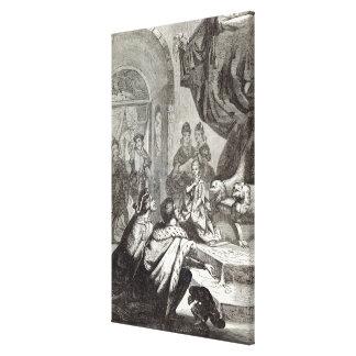 Desposorio de la princesa francesa a Richard II Impresión En Lona
