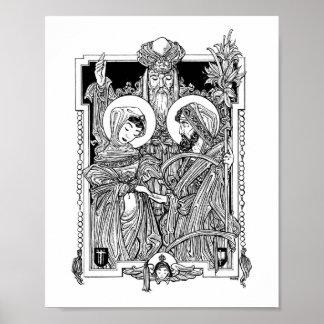 """Desposorio de la Virgen bendecida 8"""" x 10"""" impresi Posters"""