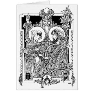Desposorio de la Virgen bendecida Notecard Tarjeta Pequeña