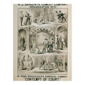 Desprecio del teatro retro de Court Postales