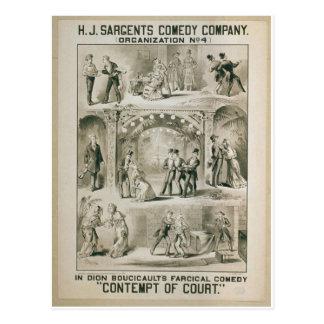 Desprecio del teatro retro de Court Postal