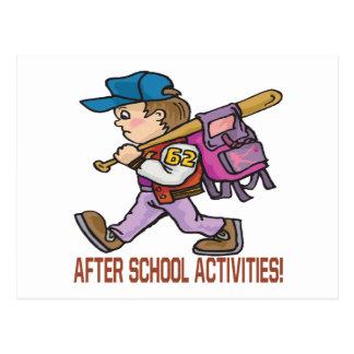 Después de actividades de escuela postal