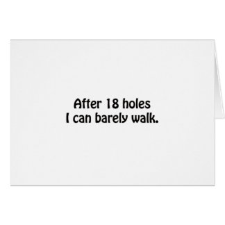 Después de diseño del golf de 18 agujeros felicitacion