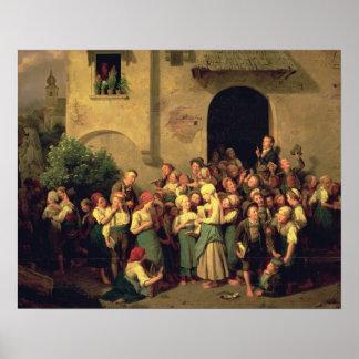 Después de escuela, 1844 póster