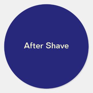 Después de etiquetas del afeitado
