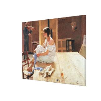 Después de la actitud 1884 impresion de lienzo