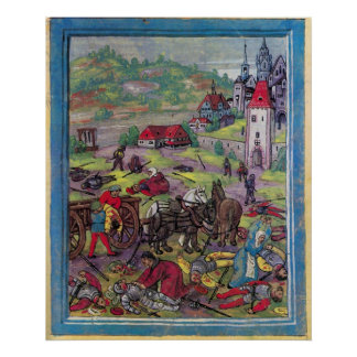 Después de la batalla de Triboltingen en guerra Póster