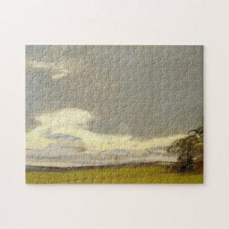 Después de la bella arte de Monet de la lluvia Rompecabezas