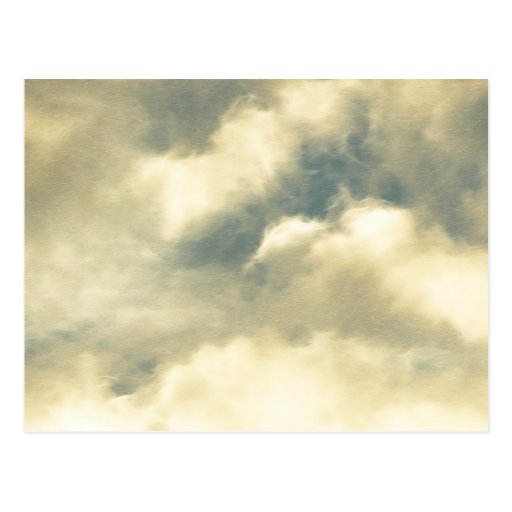 Después de la tormenta - nubes postal