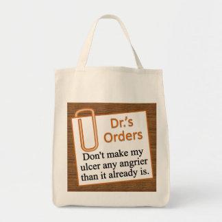 Después de las pedidos del doctor bolsa tela para la compra