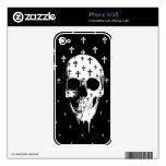 Después de mercado, cráneo gótico con las cruces skin para el iPhone 4S