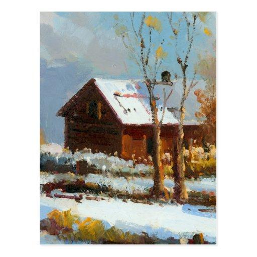 Después de nieve postales
