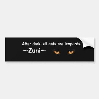 Después de oscuridad todos los gatos son leopardos pegatina para auto