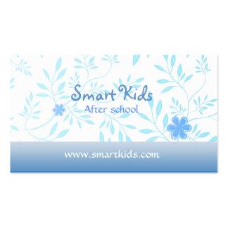 Después de tarjetas de visita de la escuela