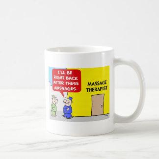 DESPUÉS DE TERAPIA DEL MASAJE DE ESTOS MASAJES TAZAS DE CAFÉ
