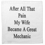 Después de todo ese dolor mi esposa hizo un gran M Servilleta De Papel