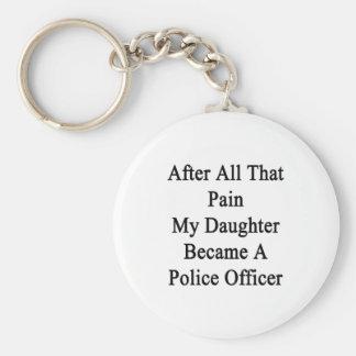 Después de todo ese dolor mi hija hizo una policía llaveros personalizados