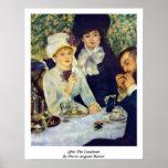 Después del alumerzo de Pierre-Auguste Renoir Poster