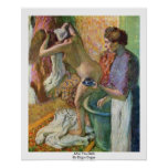 Después del baño de Edgar Degas Posters