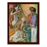Después del baño de Edgar Degas Tarjetas Postales