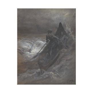Después del naufragio de Gustave Doré Impresión En Tela