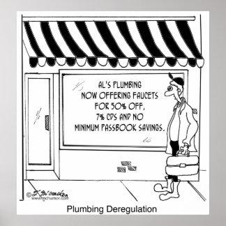 Desregulación de la fontanería póster
