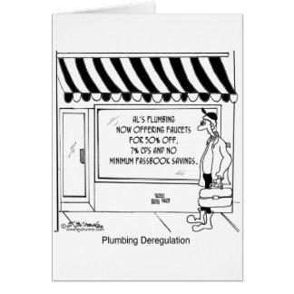 Desregulación de la fontanería tarjeta de felicitación