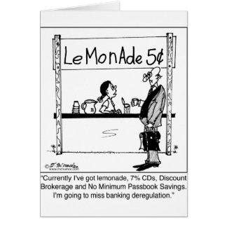 Desregulación del puesto de limonadas y de las act tarjeta de felicitación