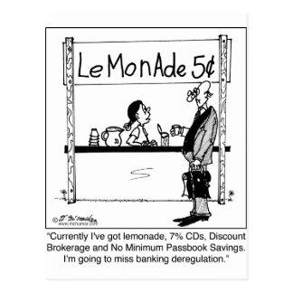 Desregulación del puesto de limonadas y de las tarjetas postales