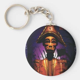 Dessalines Basic Round Button Keychain
