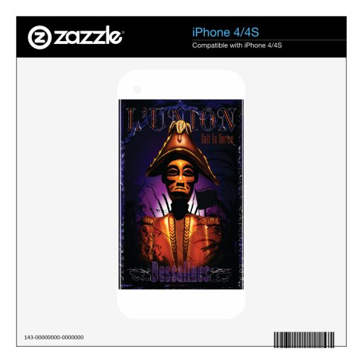 Dessalines Decals For The iPhone 4S