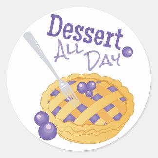Dessert All Day Classic Round Sticker