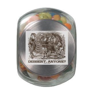 Dessert, Anyone? (Unicorn Alice Lion Wonderland) Jelly Belly Candy Jars