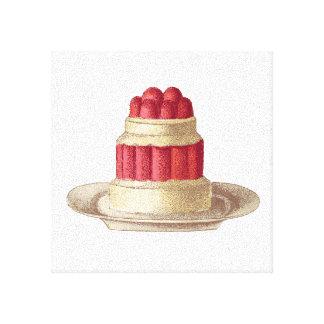 Dessert art print stretched canvas prints