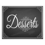 Dessert  chalkboard sign for wedding print