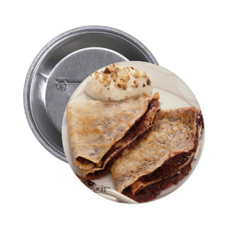 Dessert Crepes Pinback Button