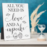 """Dessert Cupcake Wedding Sign With Easel Plaque<br><div class=""""desc"""">This fun and unique cupcake sign is perfect to set on your dessert table or bar at your bridal shower,  baby shower,  bachelorette party or wedding reception!</div>"""