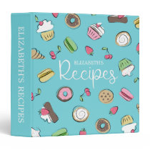 Dessert Doodles | Baked Goods Recipes 3 Ring Binder