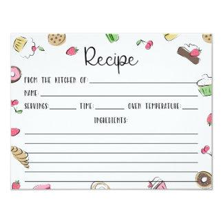 Dessert Doodles Recipe Card