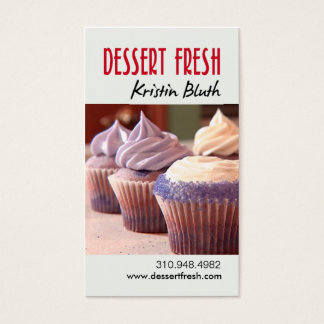 Dessert Fresh, Cupcakes, Pastry Chef, Baker Business Card