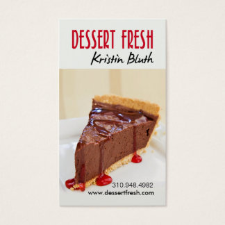 Dessert Fresh, Mousse, Pastry Chef, Baker Business Card