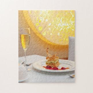 Dessert in restaurant jigsaw puzzle
