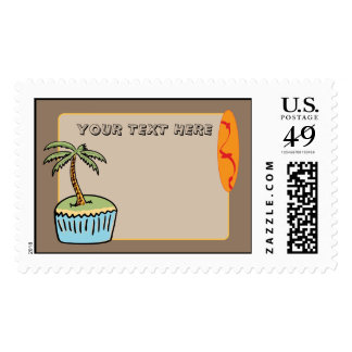 """Dessert"" Island - Beach Bash Party Postage"